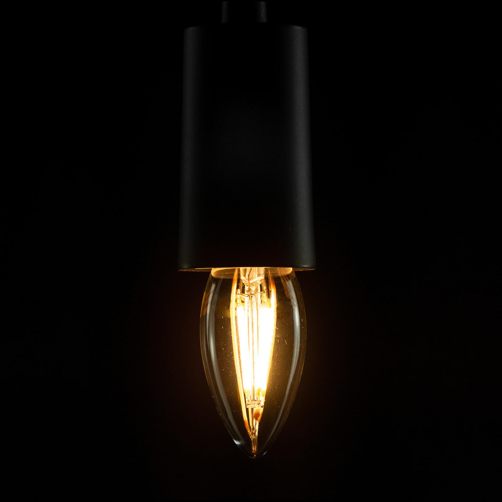 SEGULA LED E27 4W B35 2.600K trasparente dimming