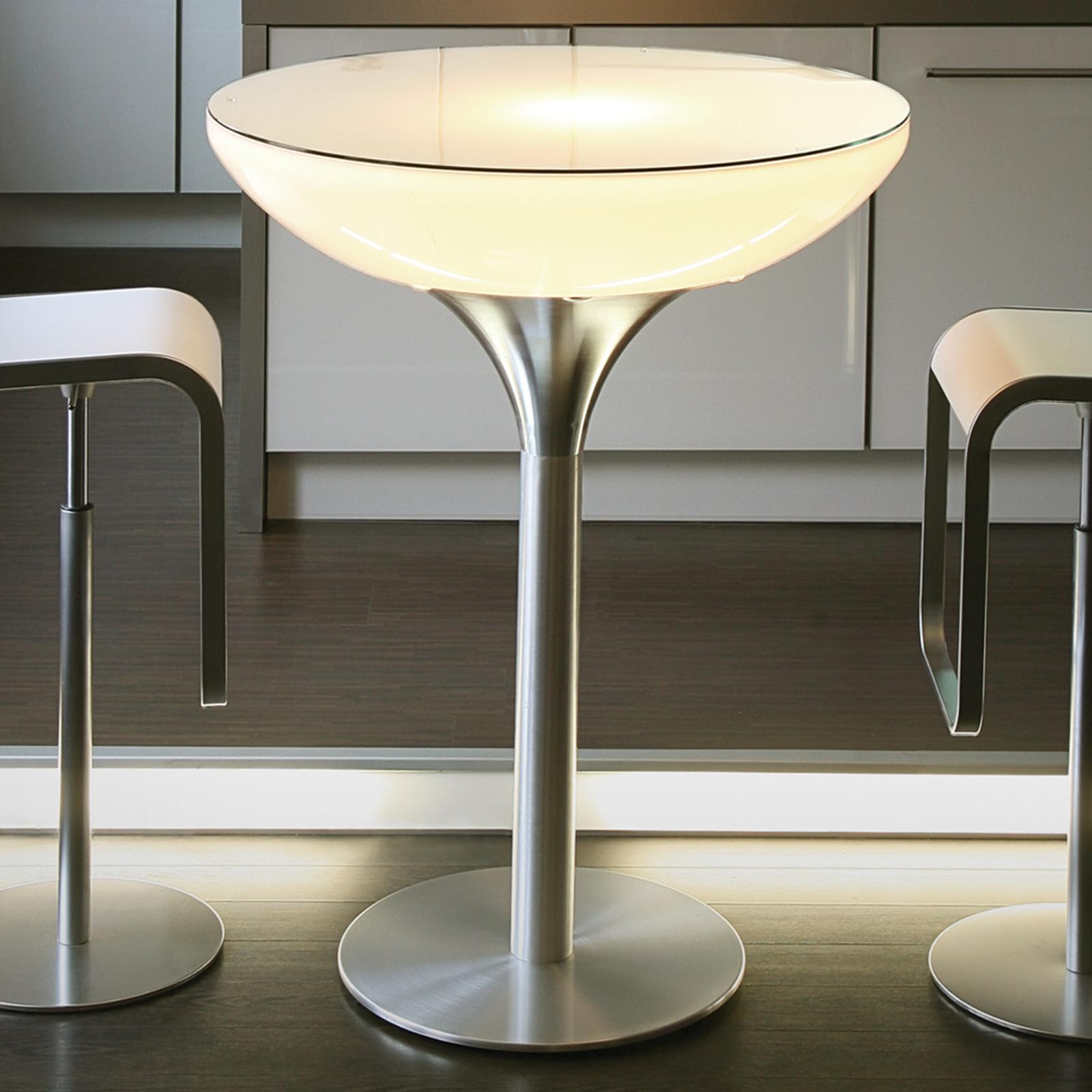 mangefarget lysende loungebord LED Pro 105 cm