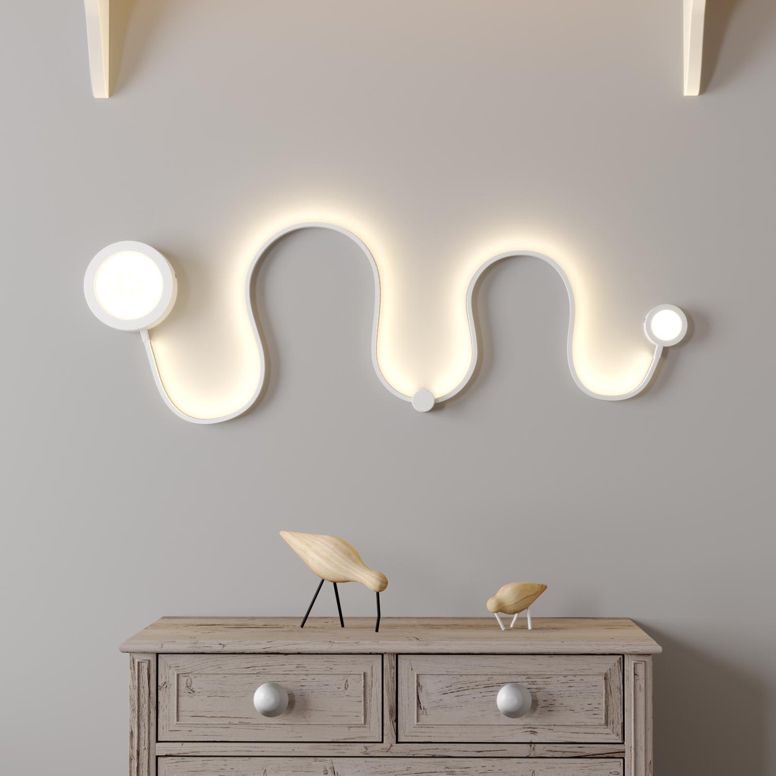 Lindby Annegrit LED nástěnné světlo, stmív., 25 W