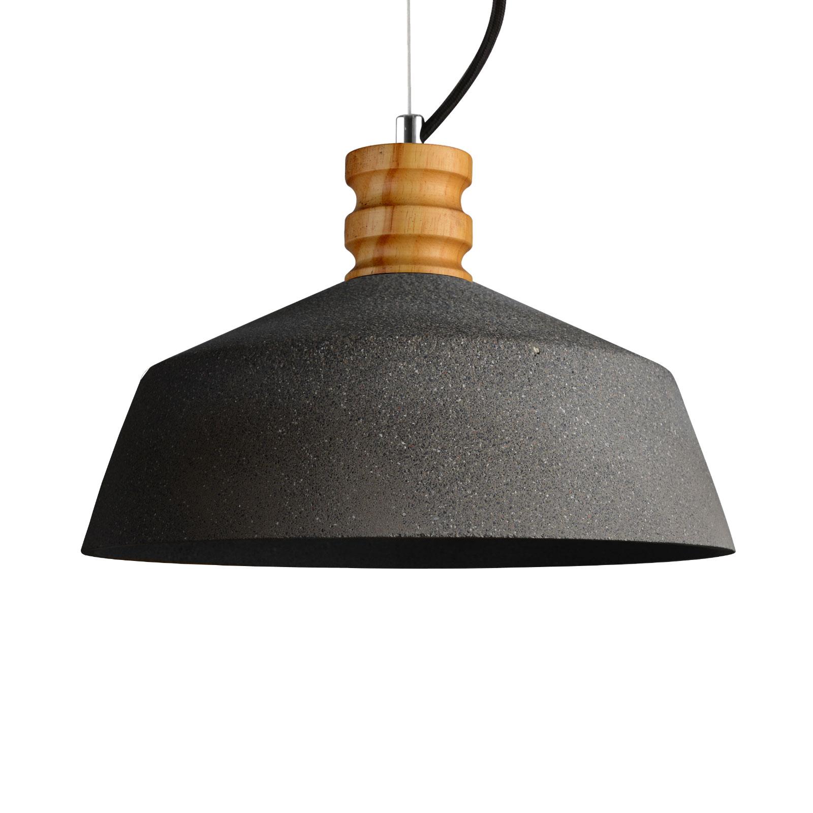 Lampa wisząca Concret z cementu z piaskowca
