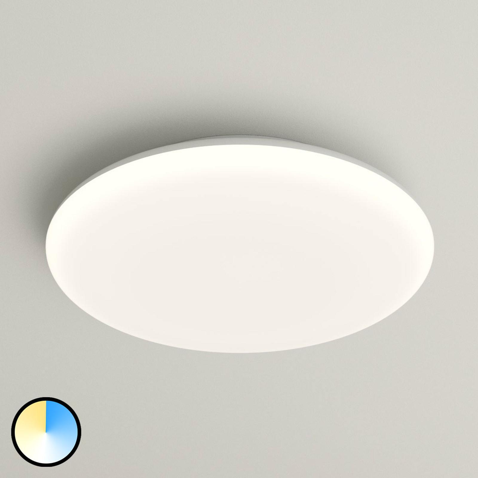 LED plafondlamp Azra, wit, rond, IP54, Ø 30 cm