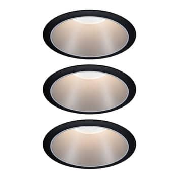 Paulmann Cole LED-spotlight i sølvlook, 3 stk.