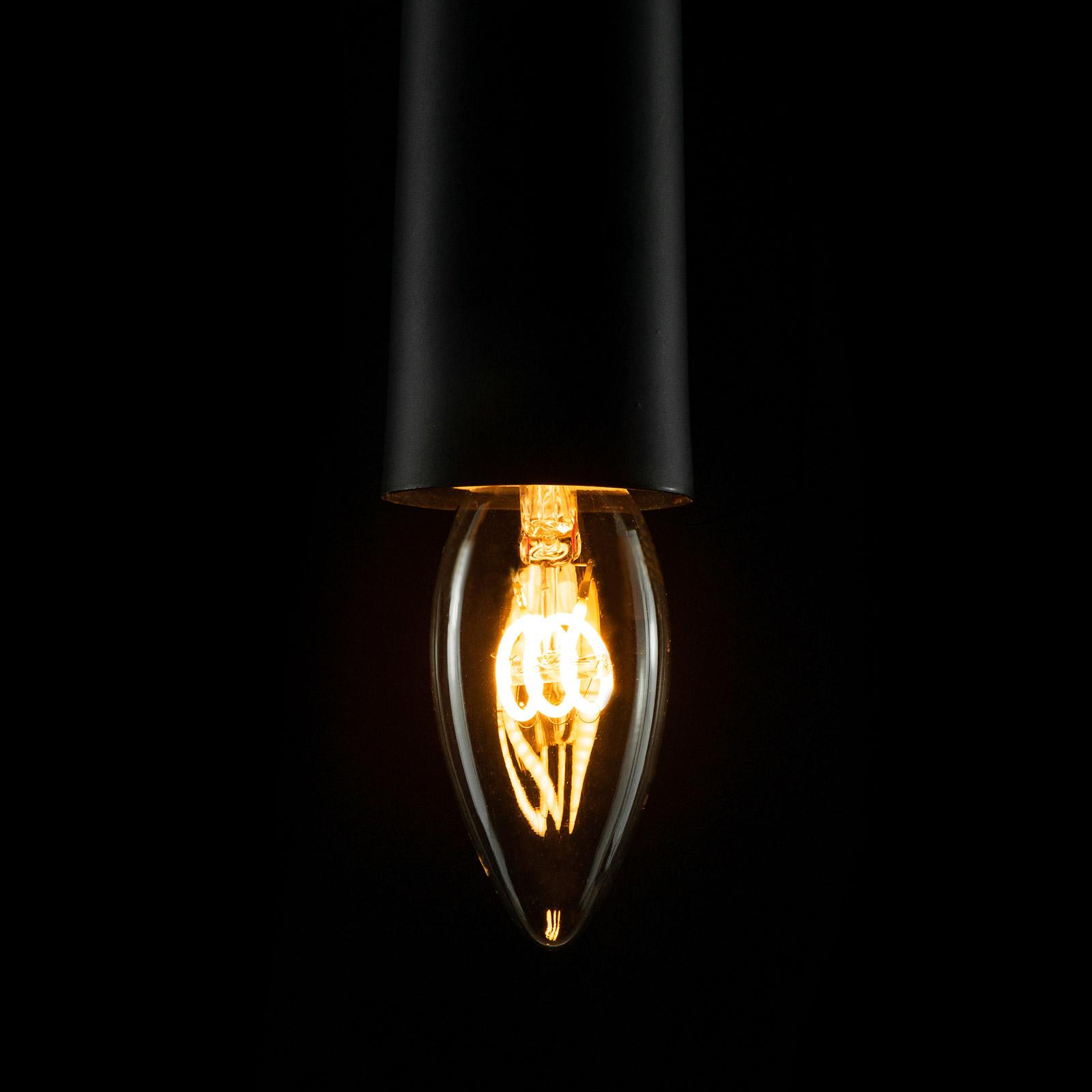 E14 2,7W 922 LED-Filament-Kerzenlampe Curved Line