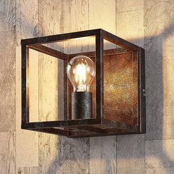 Rustfarvet væglampe Emin af metal