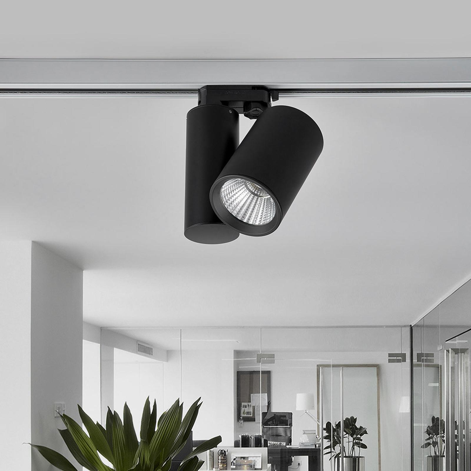 Svart LED-spot Giol til skinnesystem