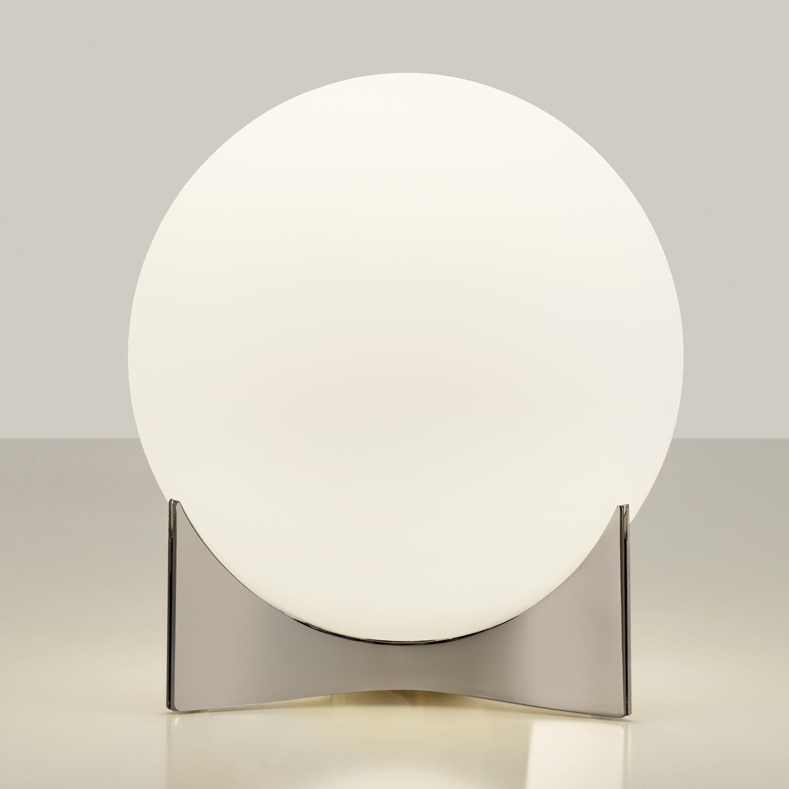 Terzani Oscar tafellamp van glas, nikkel
