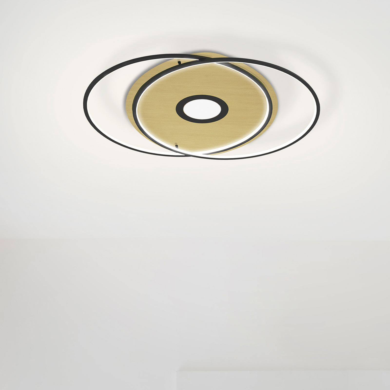 Paul Neuhaus Q-AMIRA plafonnier LED ovale, noir