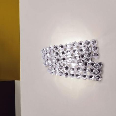 Křišťálové nástěnné světlo Diamante AP2