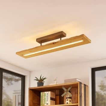 Lindby Nesaja dřevěné LED stropní svítidlo