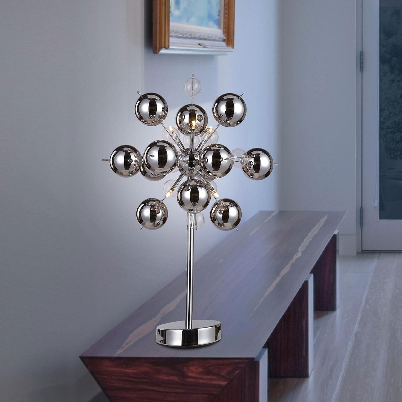 Opvallende tafellamp WAKUSEI, chroom