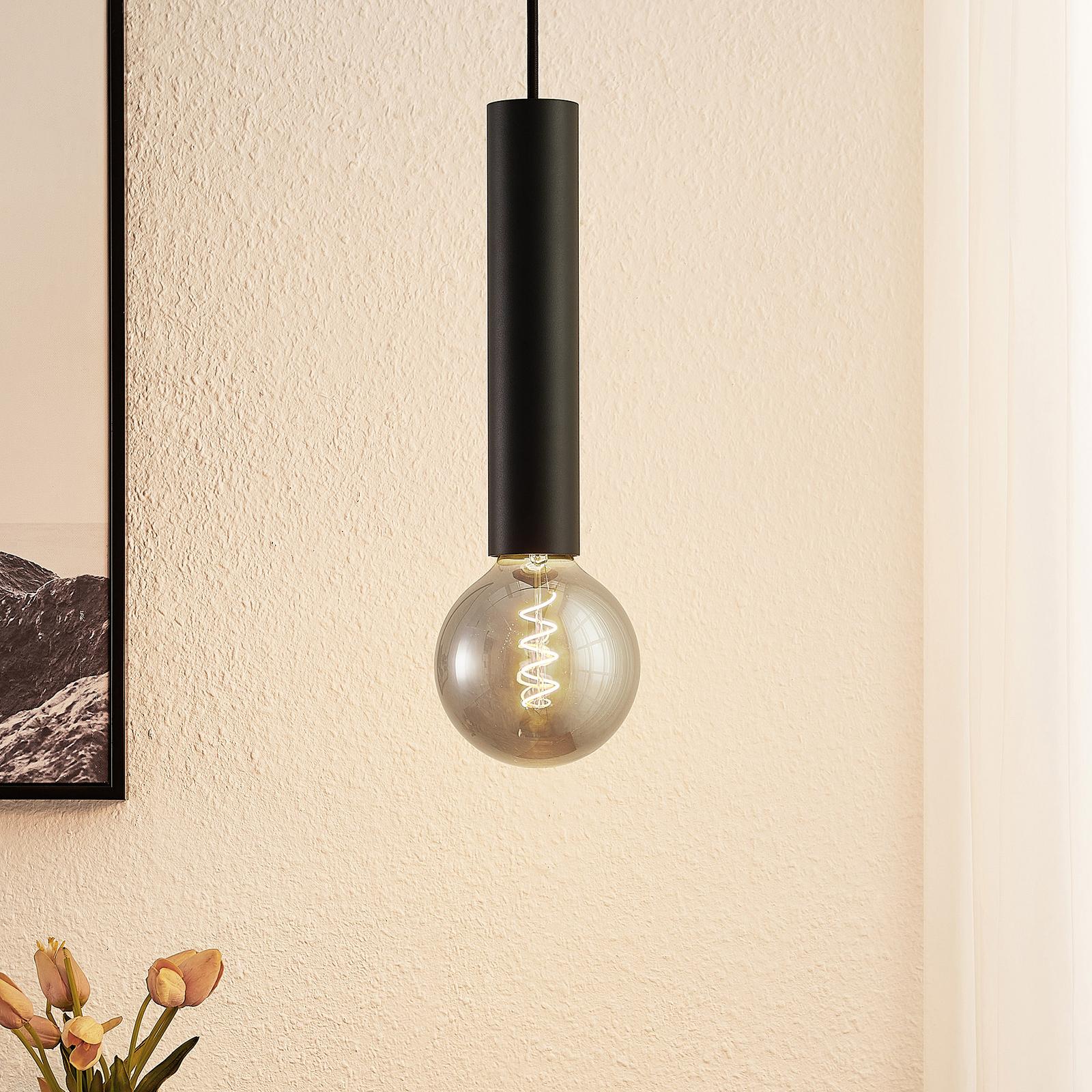 Arcchio Padilum, závěsné světlo, výška 27cm, černé