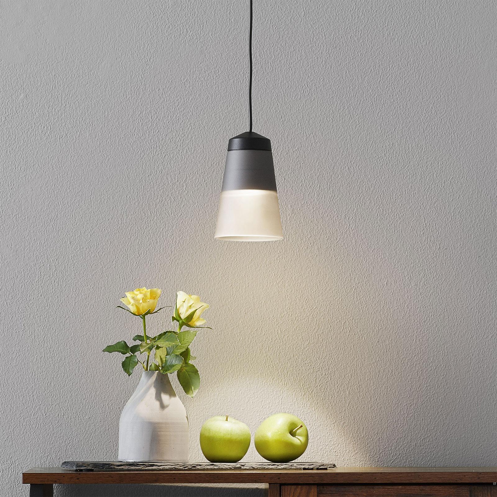 LOUM Leo 2 lampa wisząca dymione szkło Ø 9,8 cm