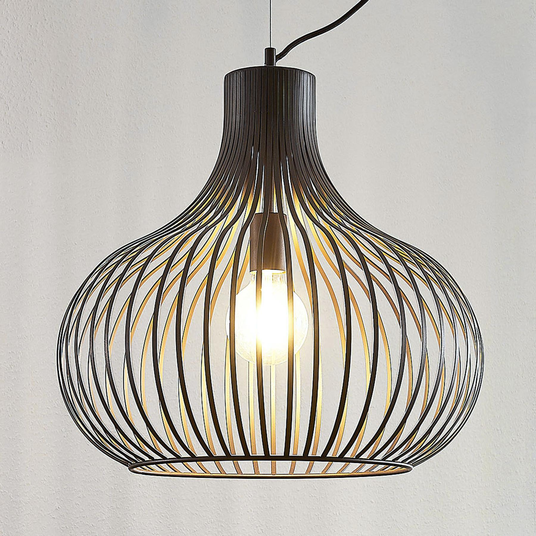 Lampa wisząca klatka Frances, 1-pkt., Ø 48 cm