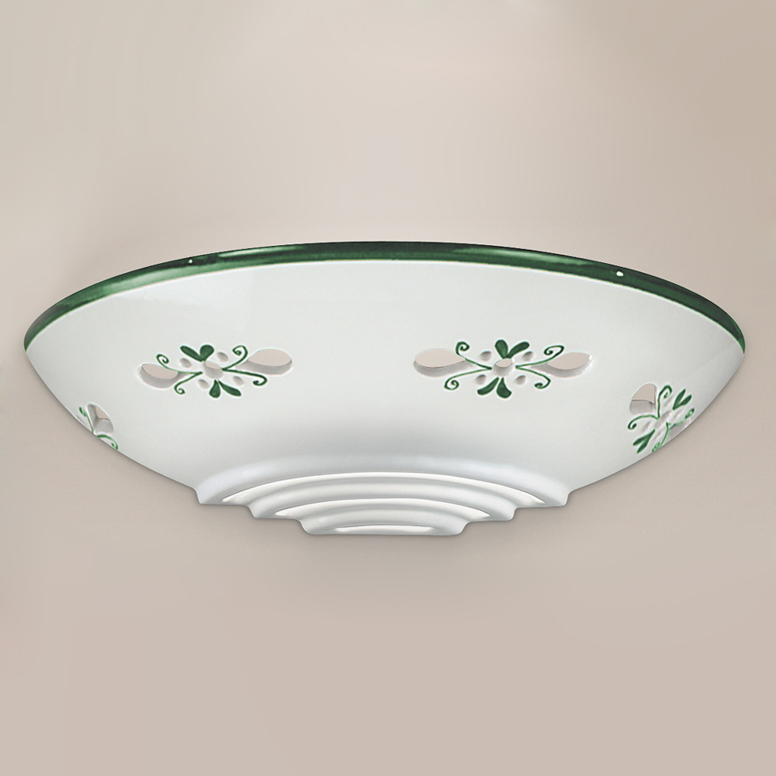 Applique d'extérieur Bassano céramique, vert