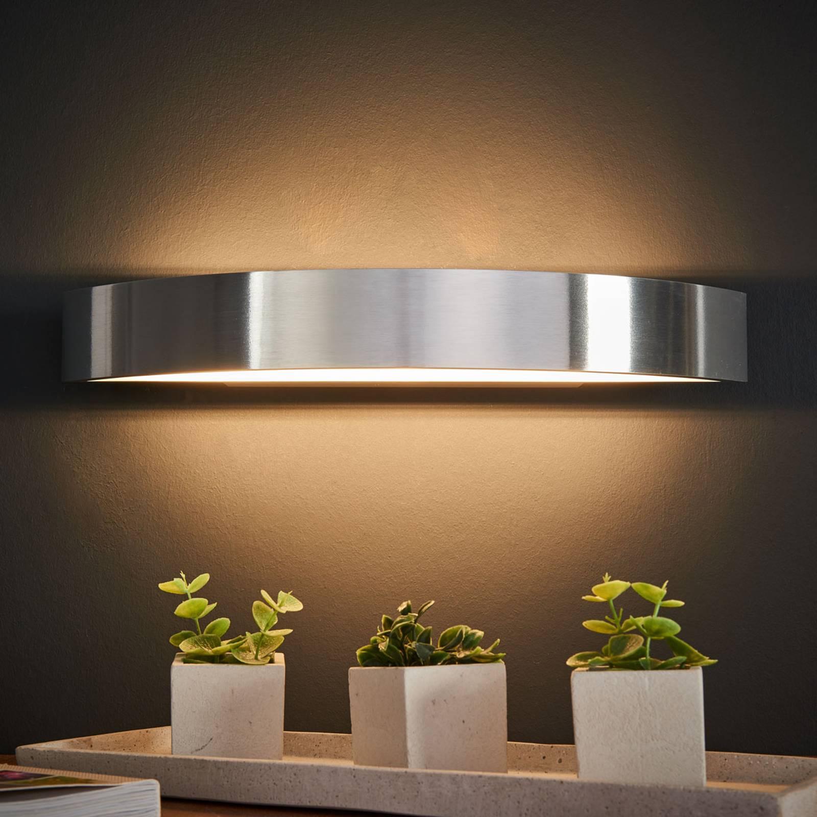 Helestra Yona LED wandlamp, aluminium, 37,5 cm