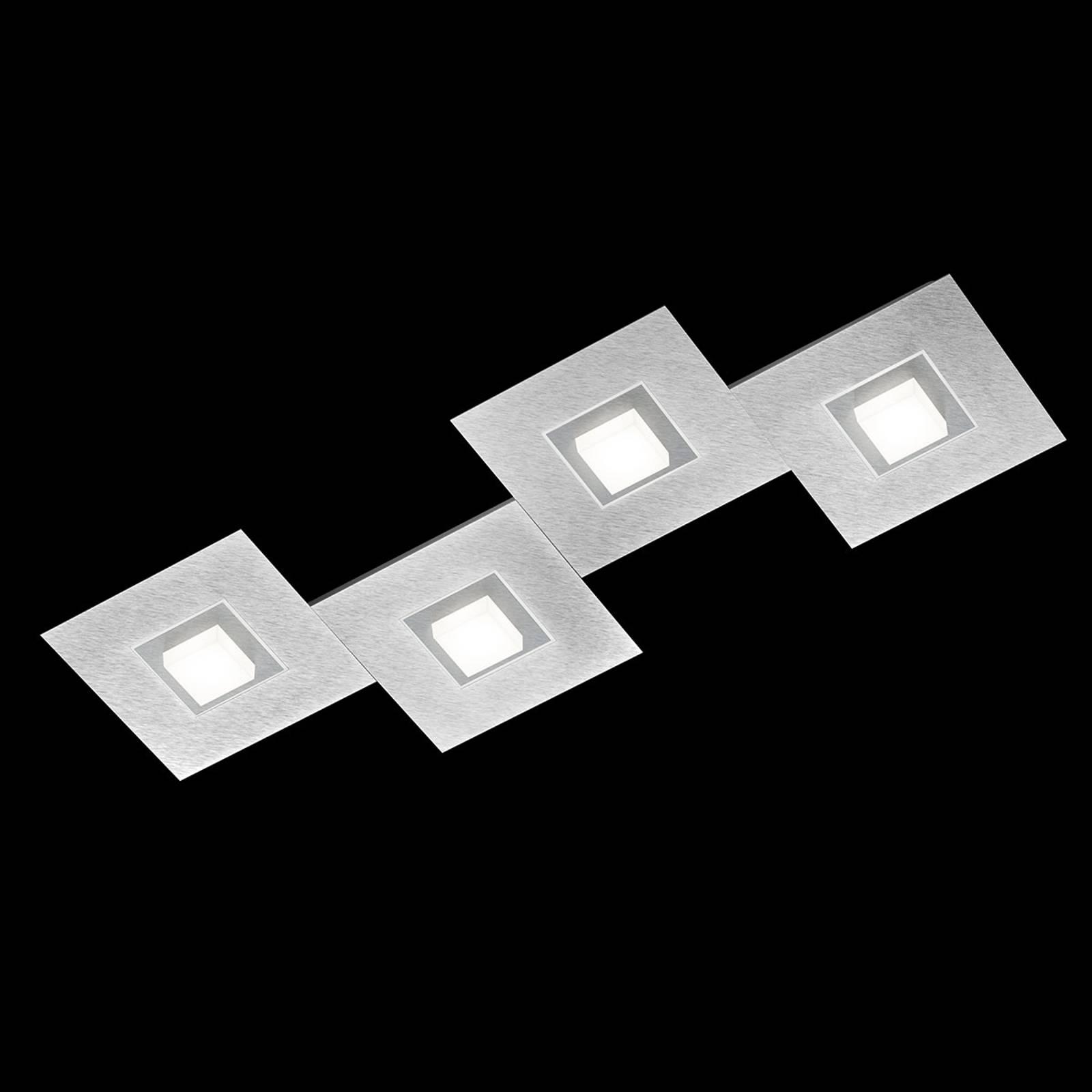 GROSSMANN Karree lampa sufitowa 4pkt 80x30cm tytan