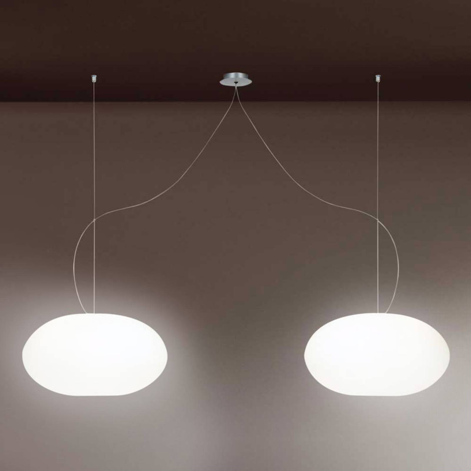 Design-hanglamp AIH, 28 cm, wit glanzend