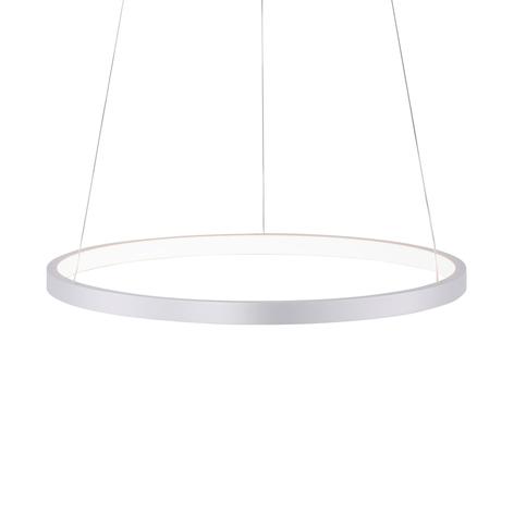 LED-Pendellampe Circle, silber, Ø 39 cm