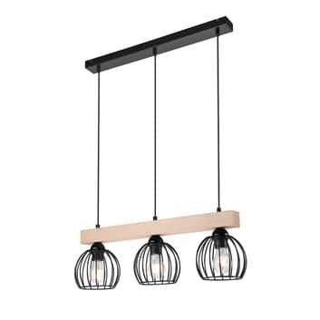 Island hængelampe med burskærm, 3 lyskilder