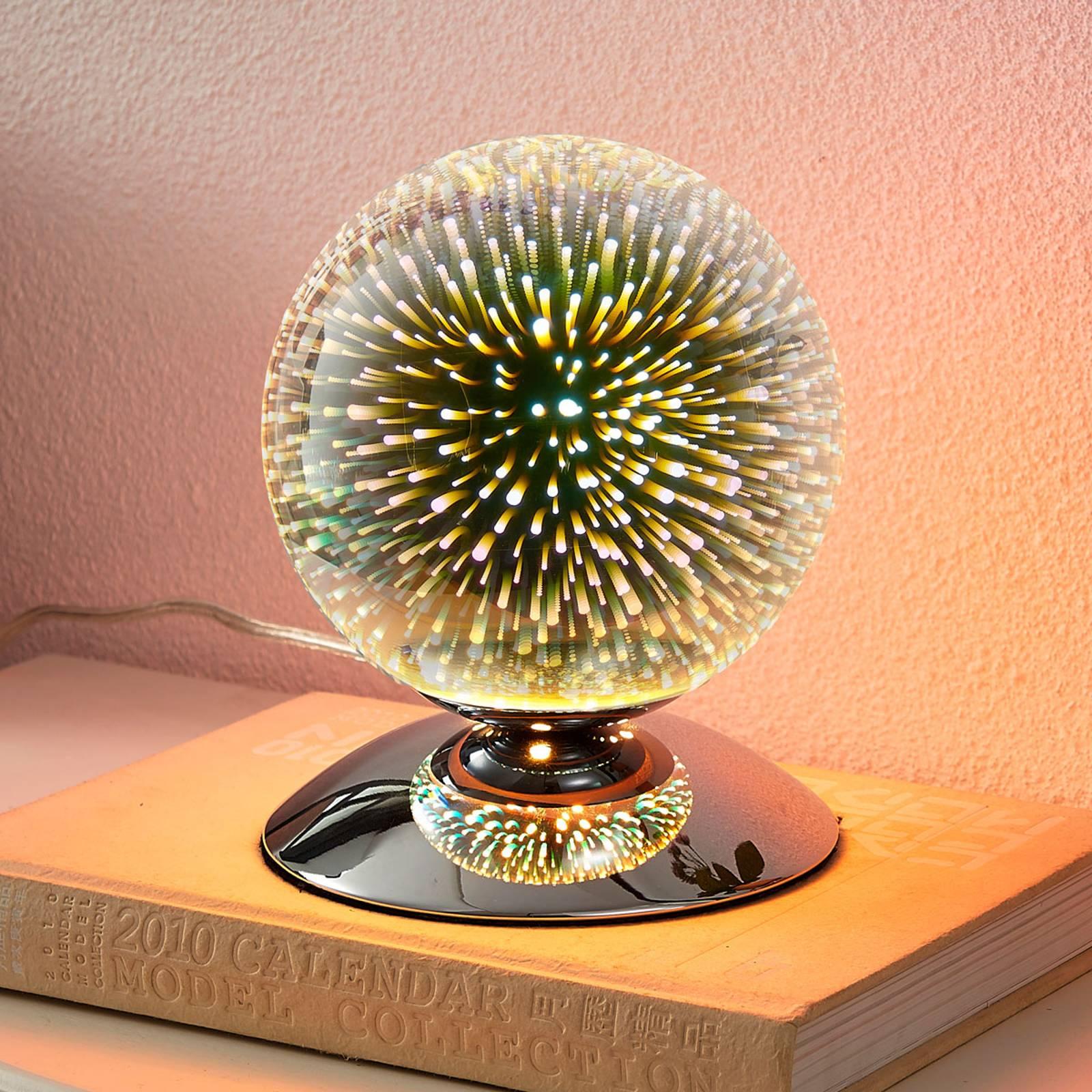 Effectvolle tafellamp Isumi in bolvorm