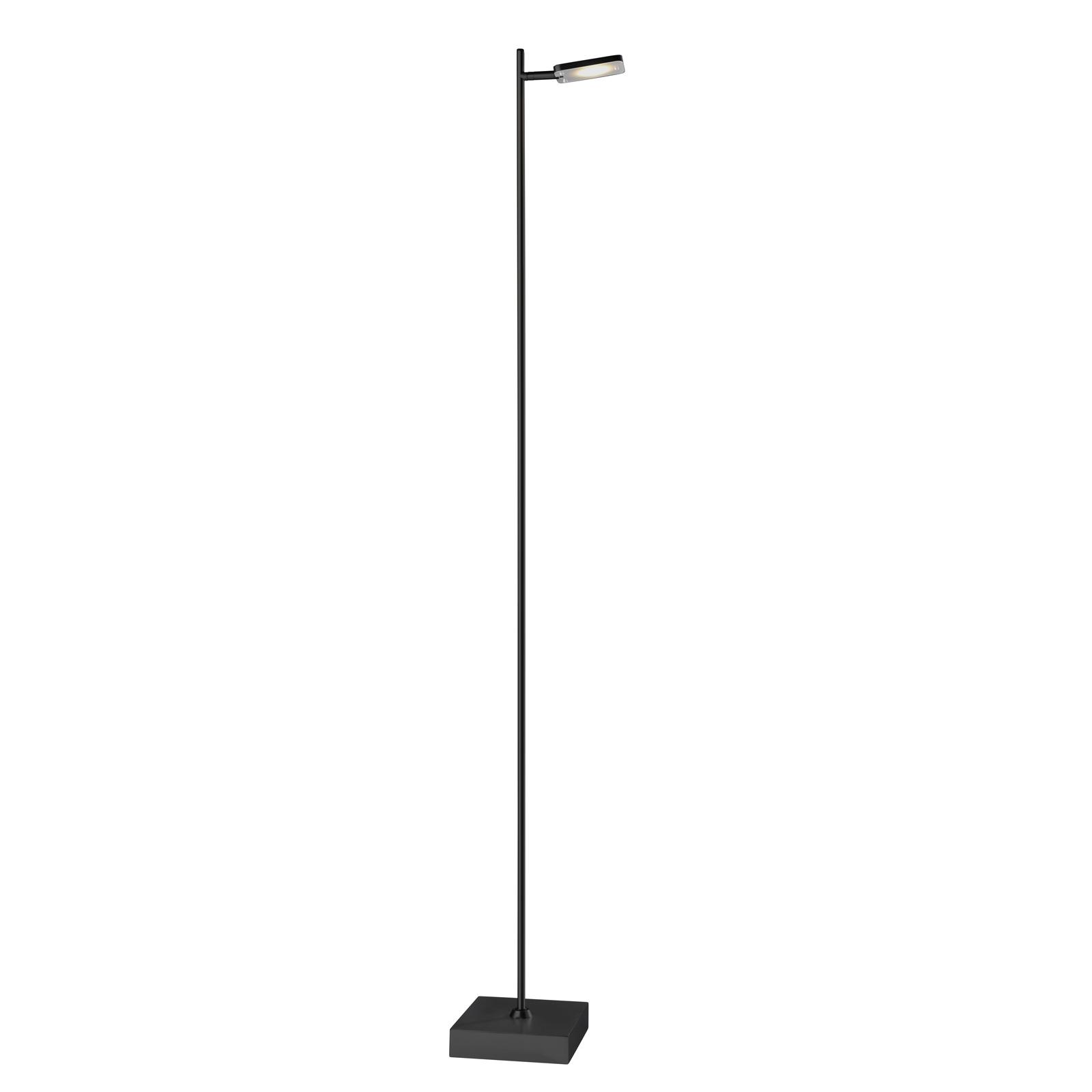 Lampadaire LED Quad, variateur, à 1 lampe, noir