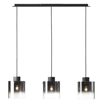 Lámpara colgante Beth, pantallas vidrio, 3 luces