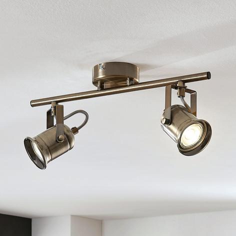 Spot pour plafond Anze en laiton ancien