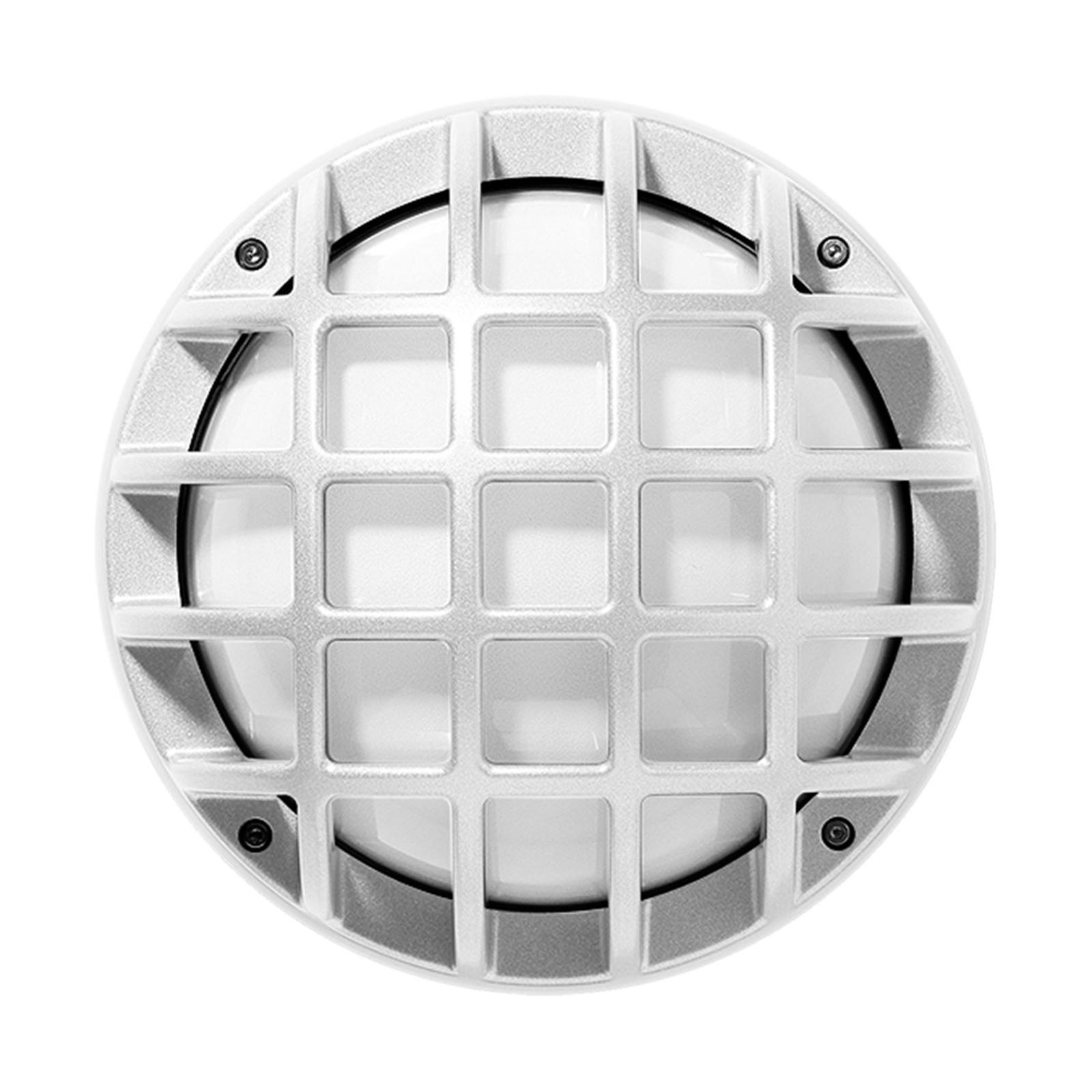 Buitenwandlamp Eko+21/G, E27, wit gestructureerd