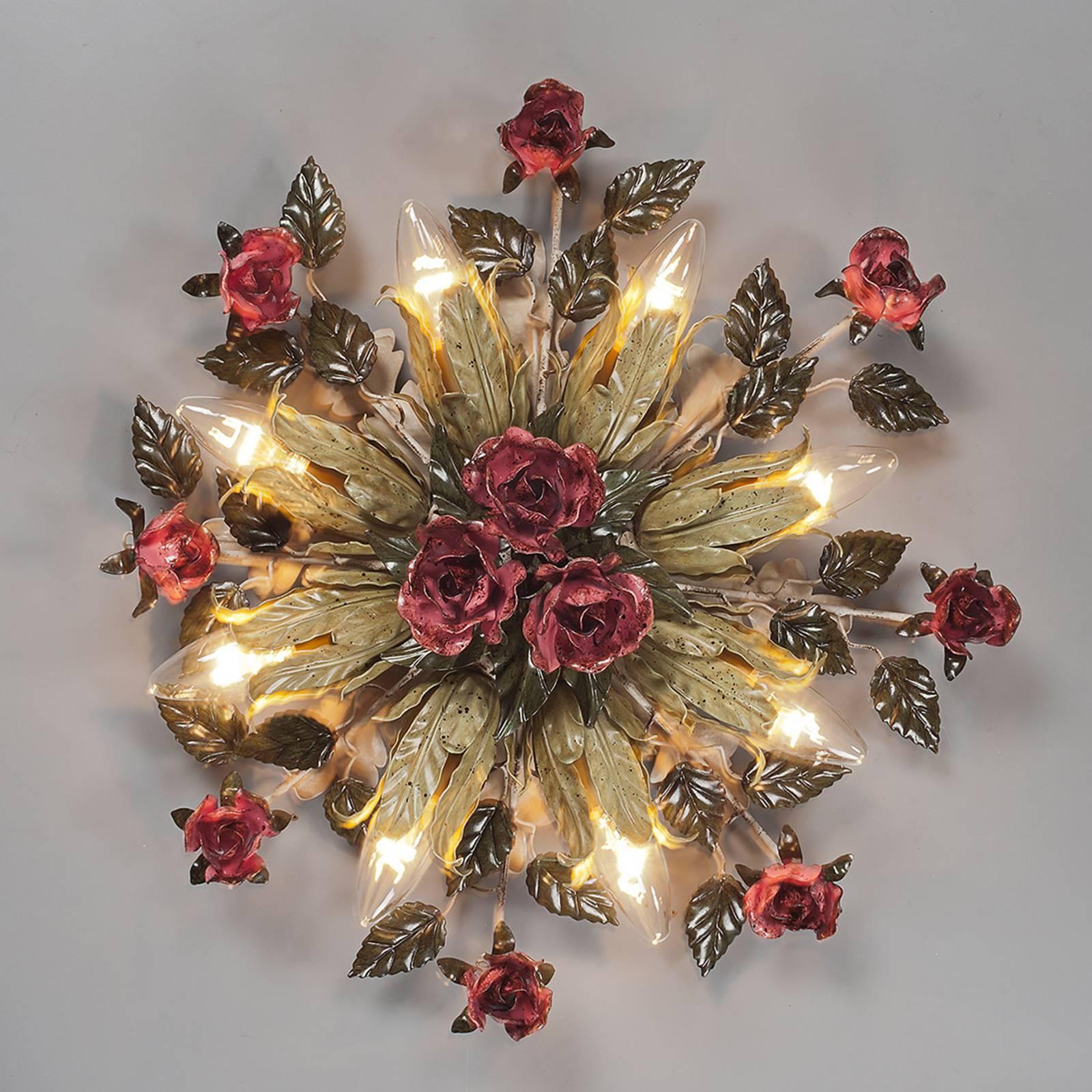 Applique florentine Fiama à 8 lampes