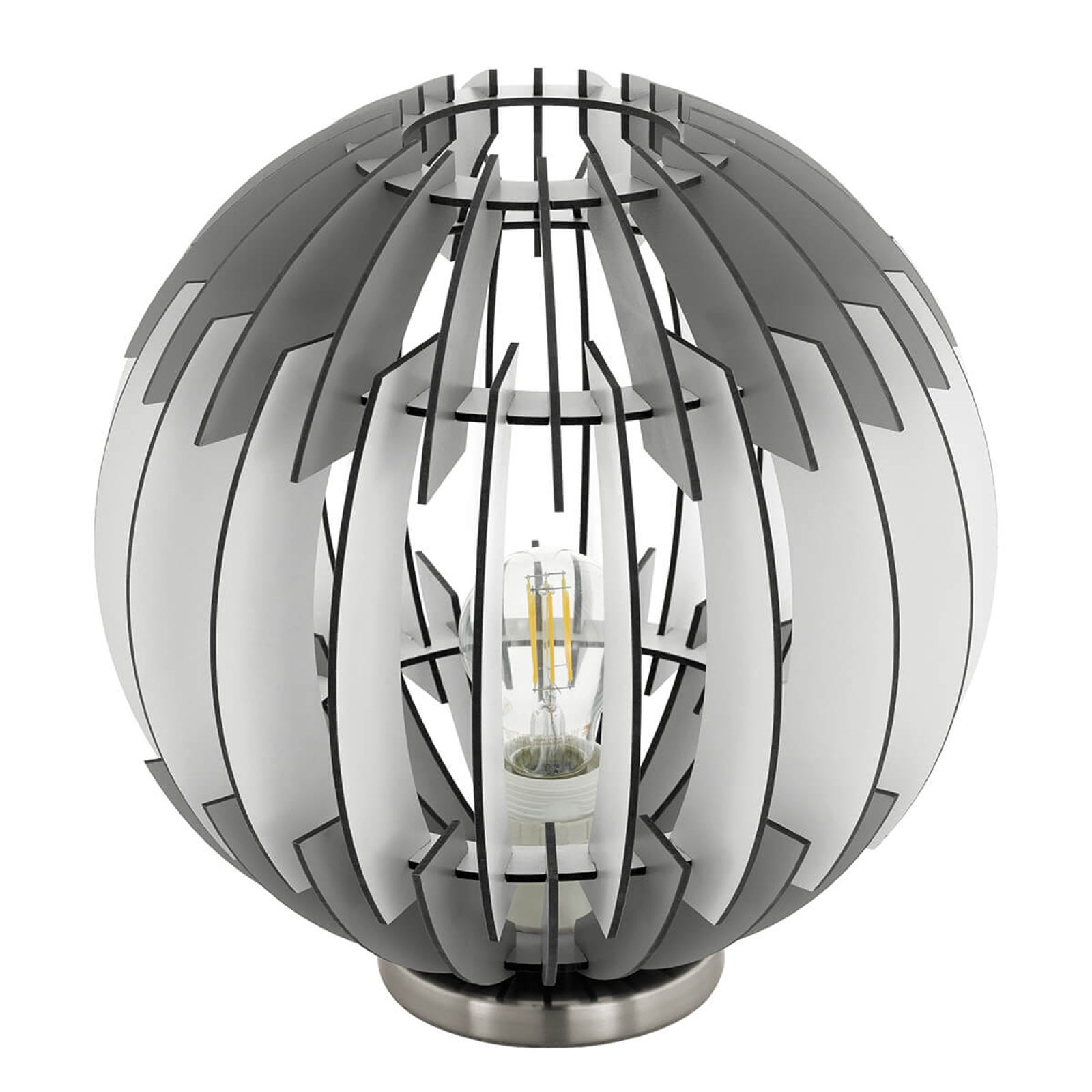 Olmero - trendy tafellamp met lamellenkap