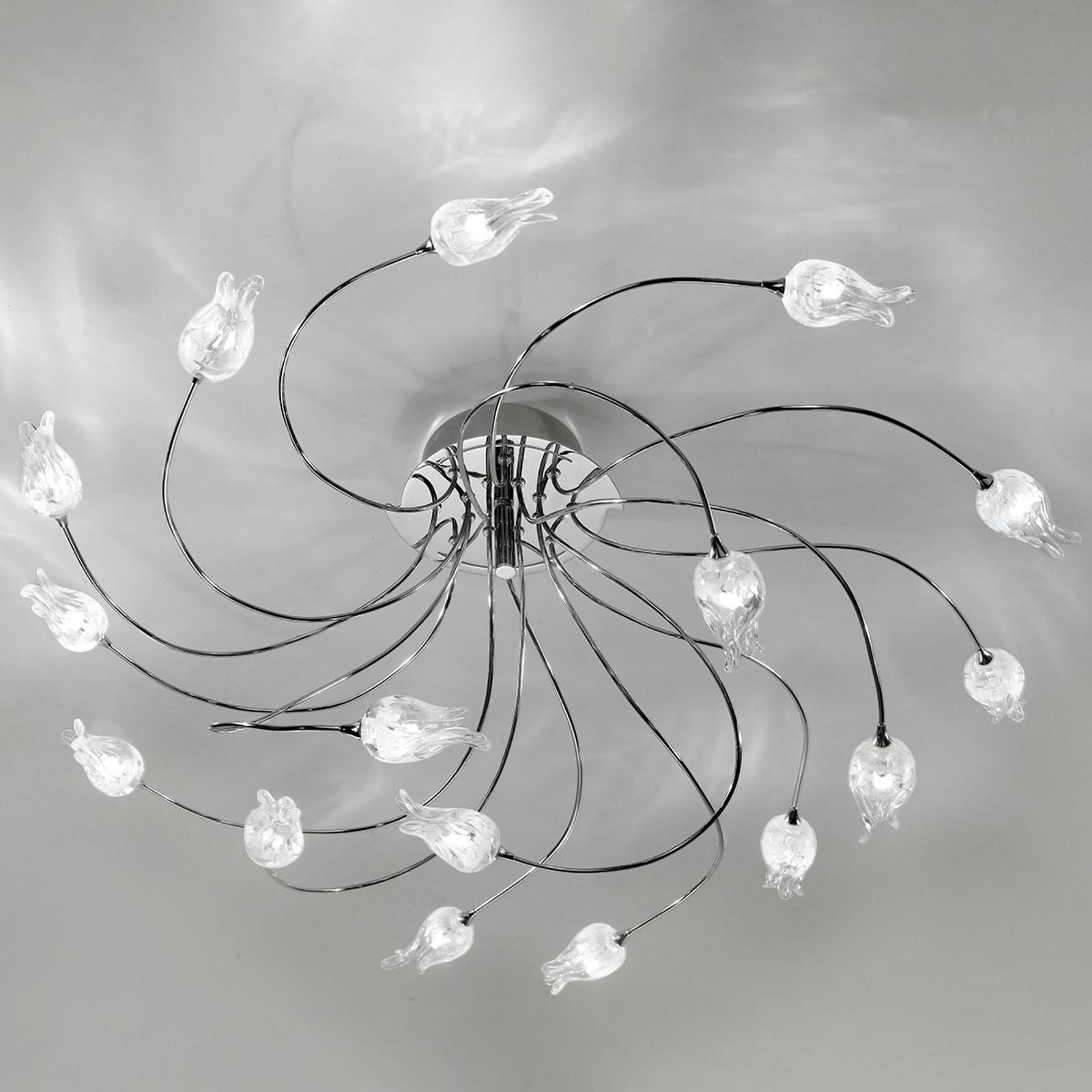 Plafondlamp 7132 chroom 16-lamps