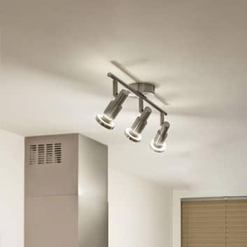 LEDVANCE Niclas faretto LED 3 luci, nichel