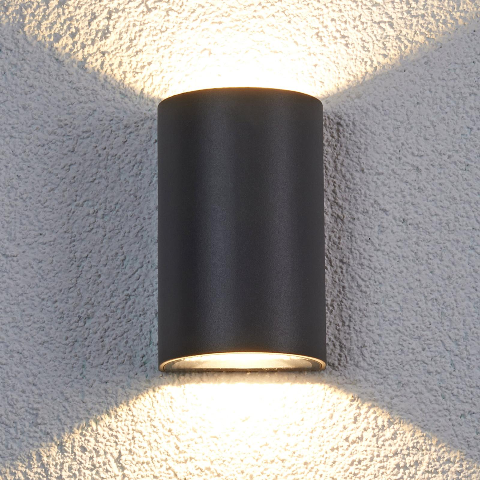Halvrund udendørs LED væglampe Jale