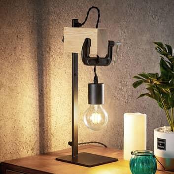 Lindby Asya bordslampa, trä, svart