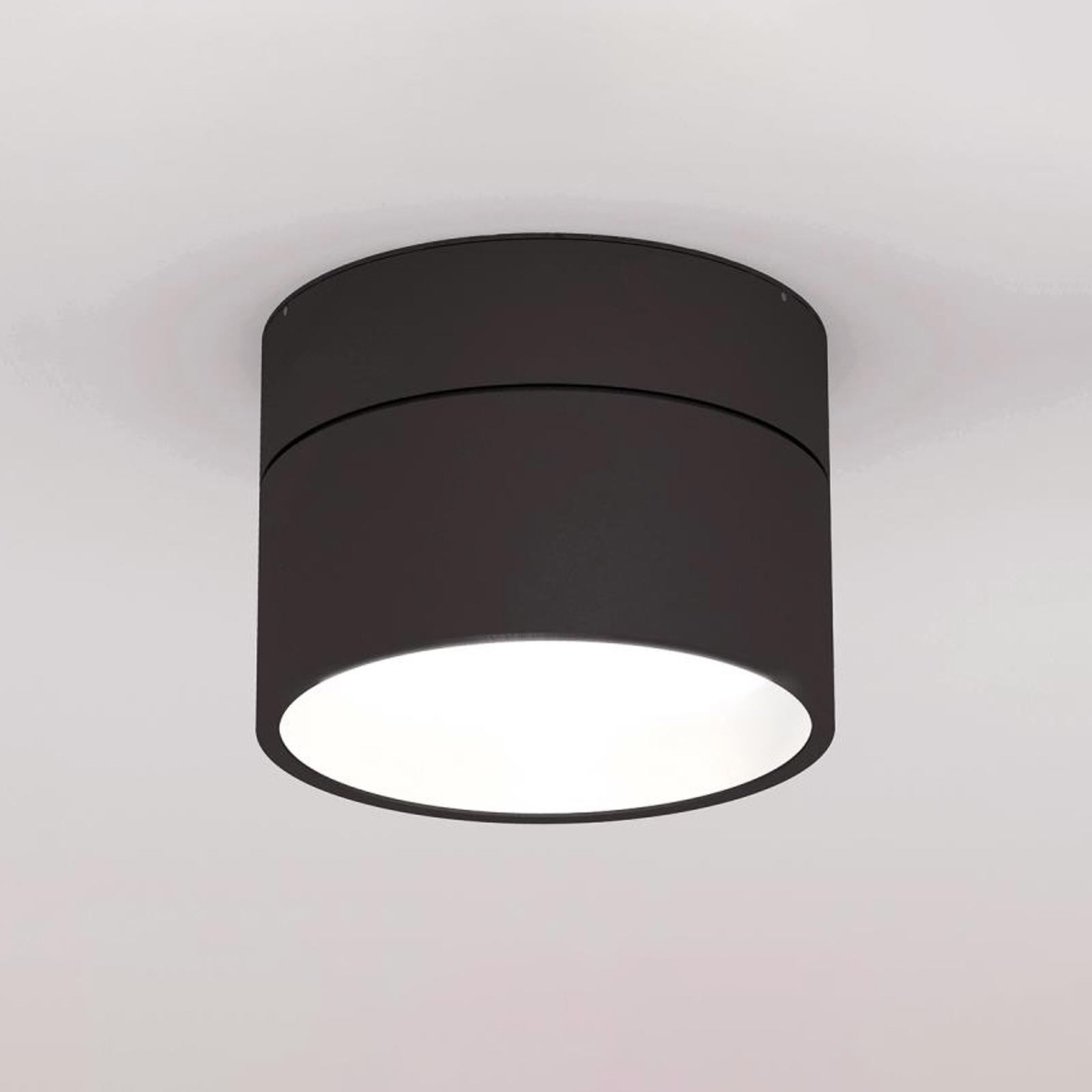 LOUM Turn on LED-taklampe dim 2700K svart/ hvit