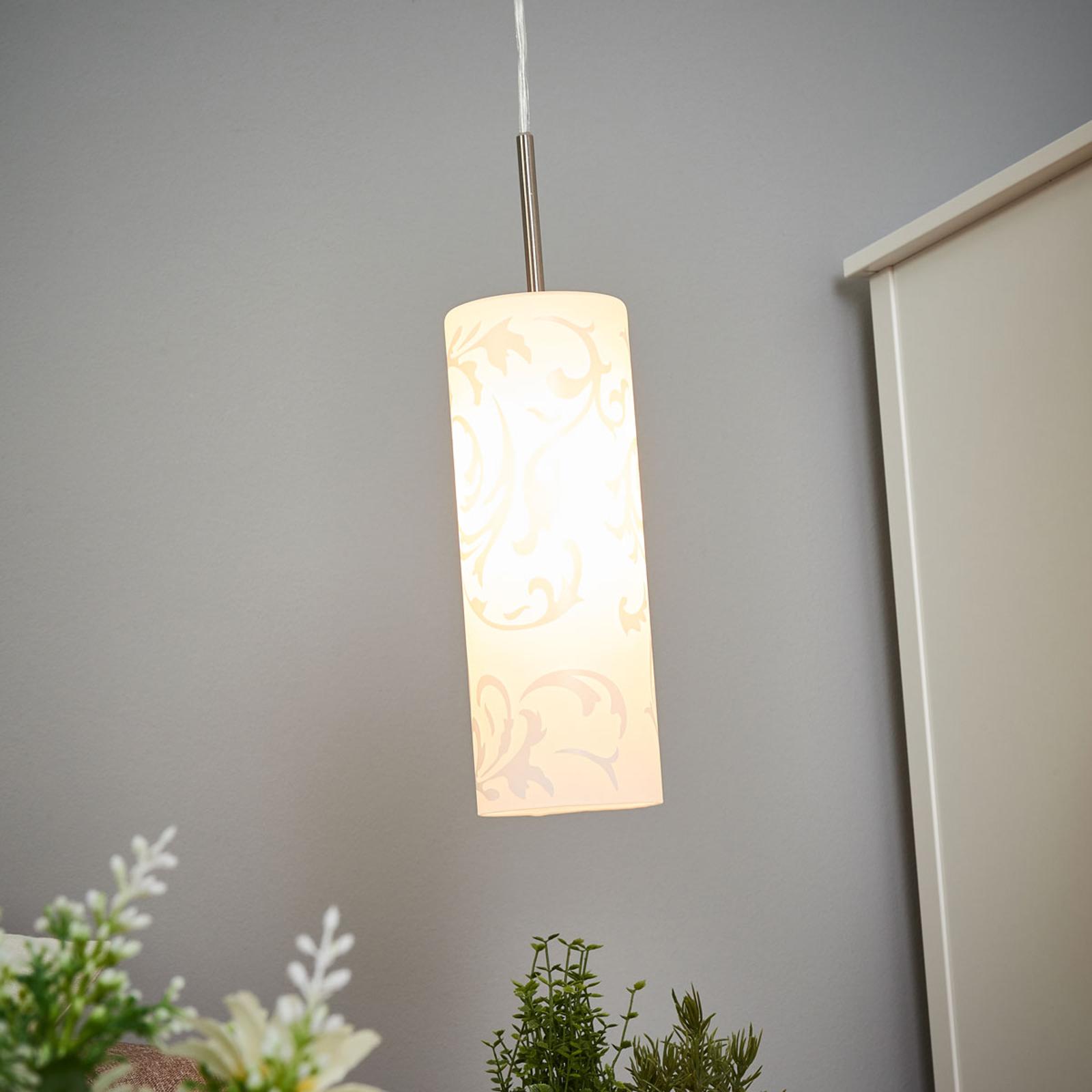 Amanda – umelecká závesná lampa 1-plameňová_3001061_1