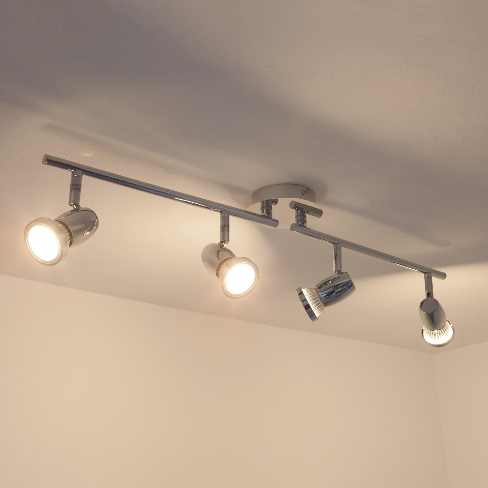 GU10 LED plafondlamp Arminius met vier lampen