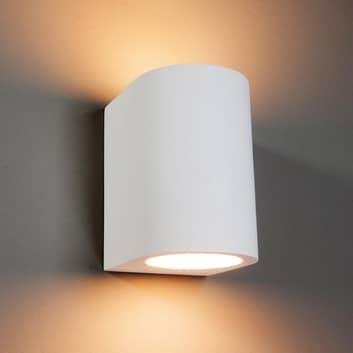 Vegglampe Zaio av gips, overmalbar