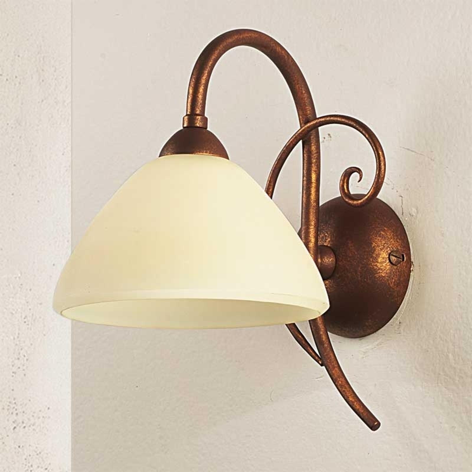 Sierlijke wandlamp Federico