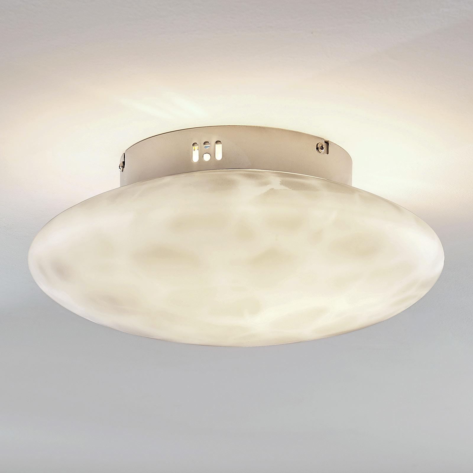 Plafondlamp Elida, glas in alabaster, 33 cm