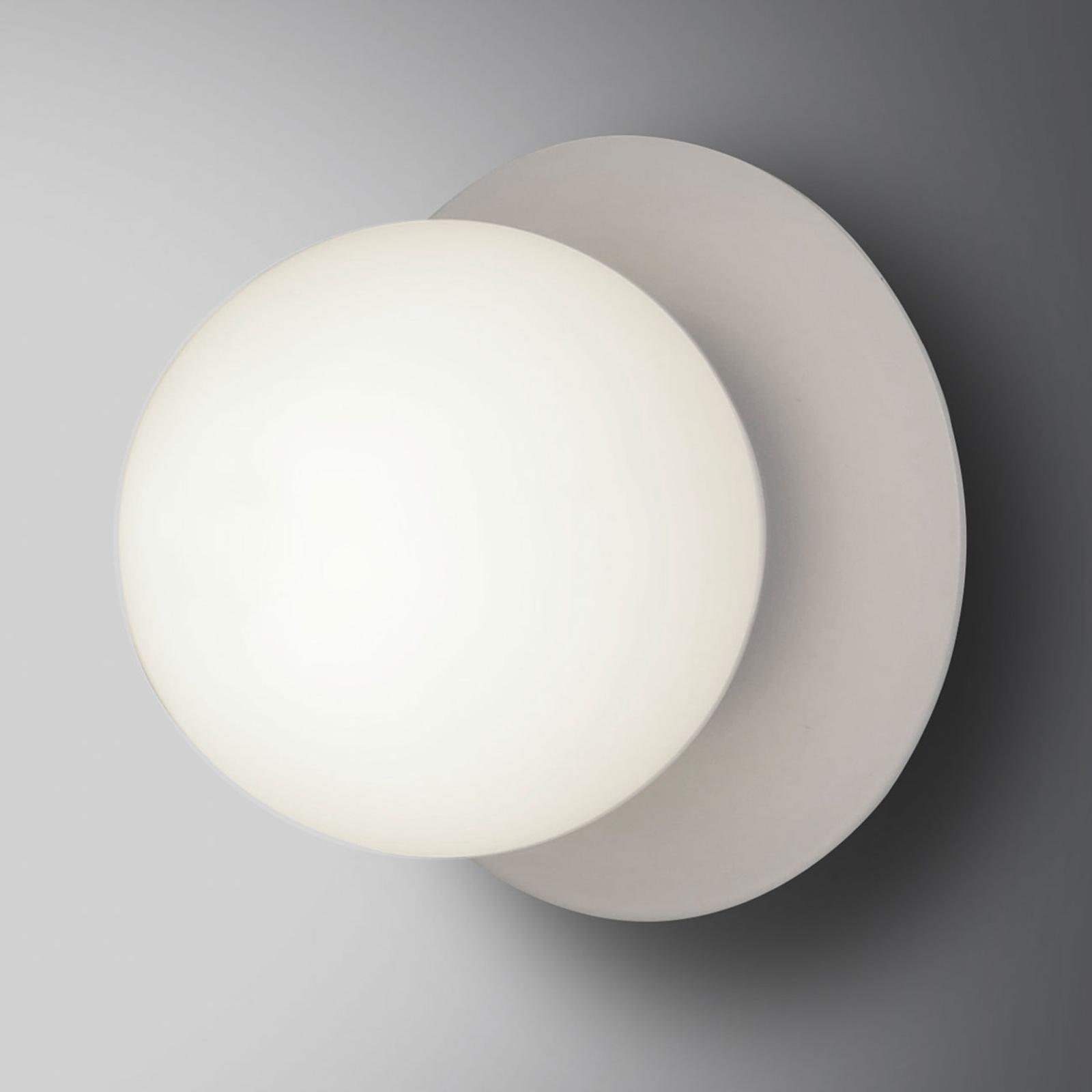 Wandlamp Minerva K1 met witte metaalrand