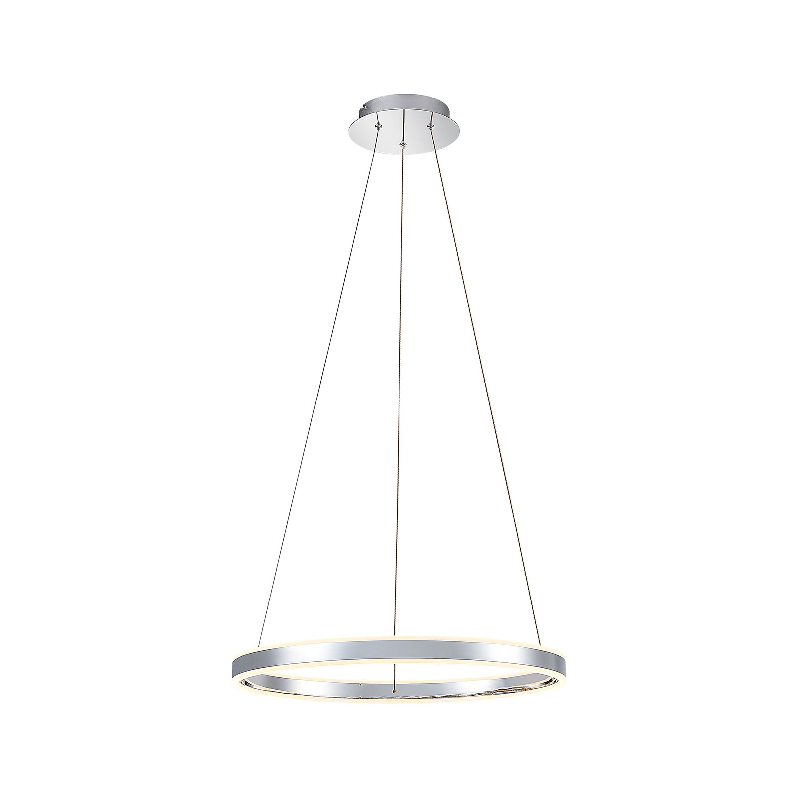 LED Pendelleuchte Lyani in Chrom, dimmbar, 60 cm