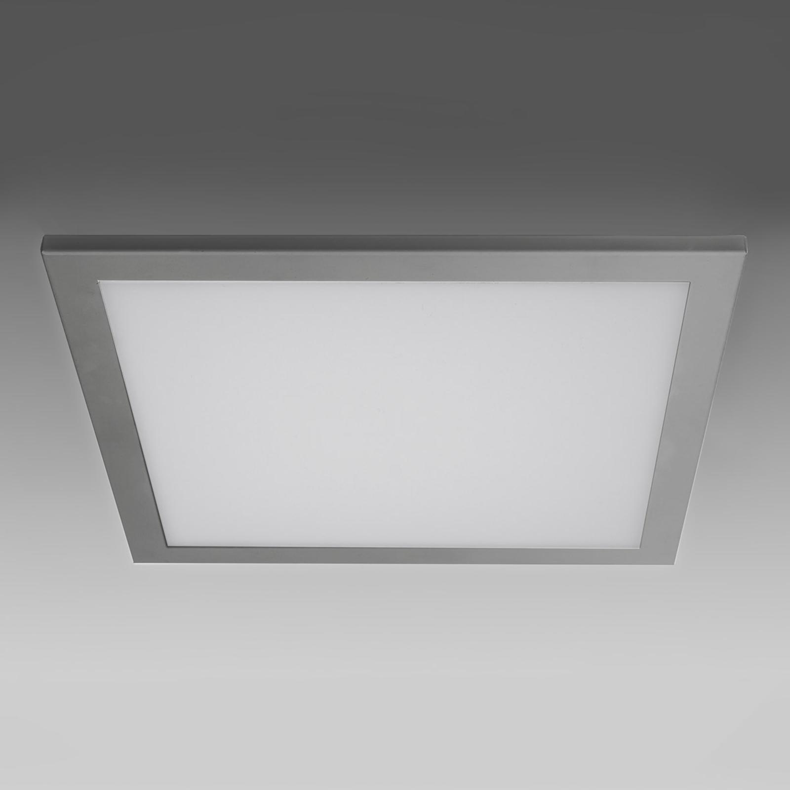 Plafonnier encastrable LED SUN 9, plat argenté 3 k