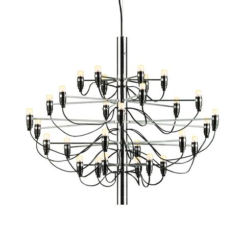 FLOS 2097/30 lámpara de araña 30 cromo esmerilado