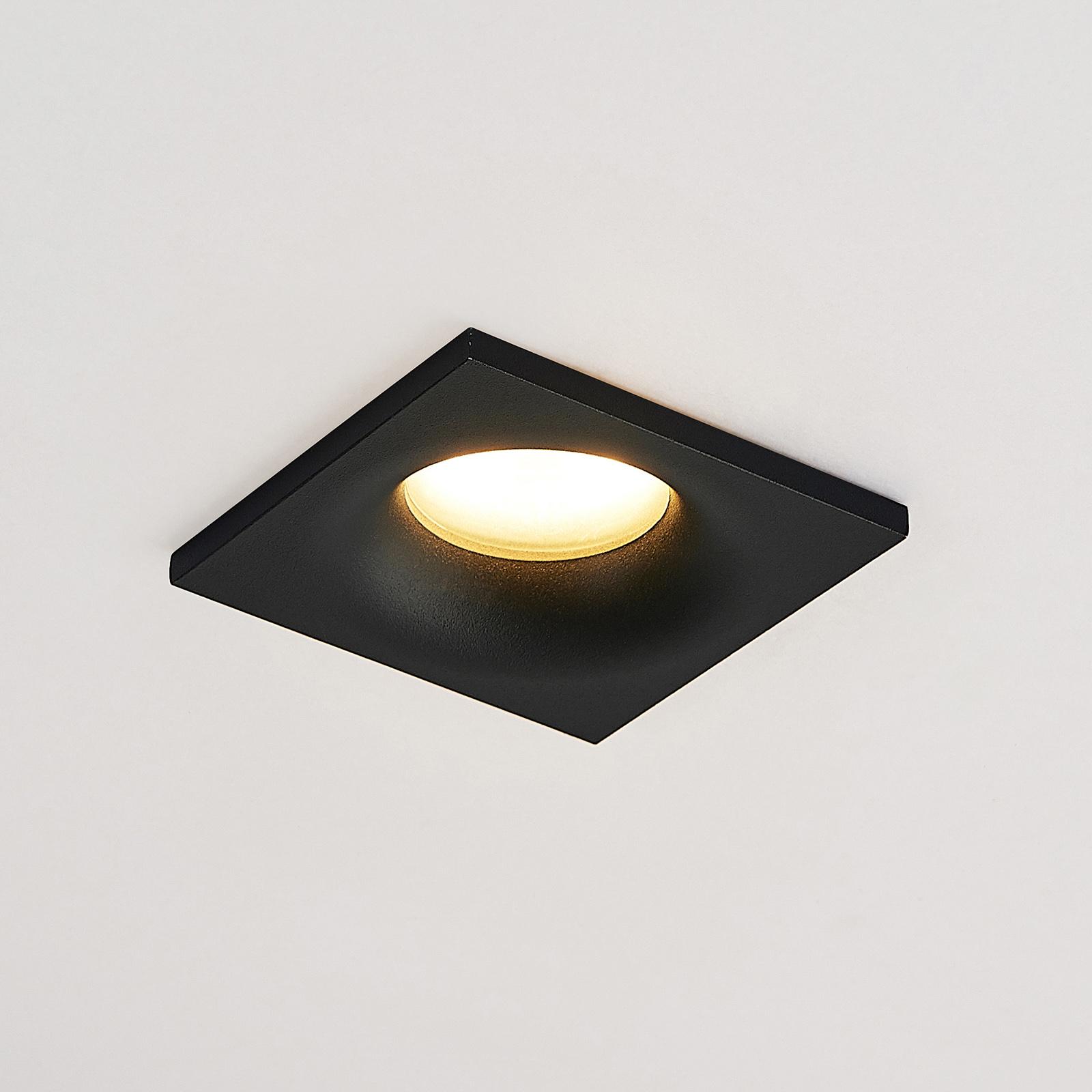 Arcchio Enia zapuštěné světlo, hranaté, černé