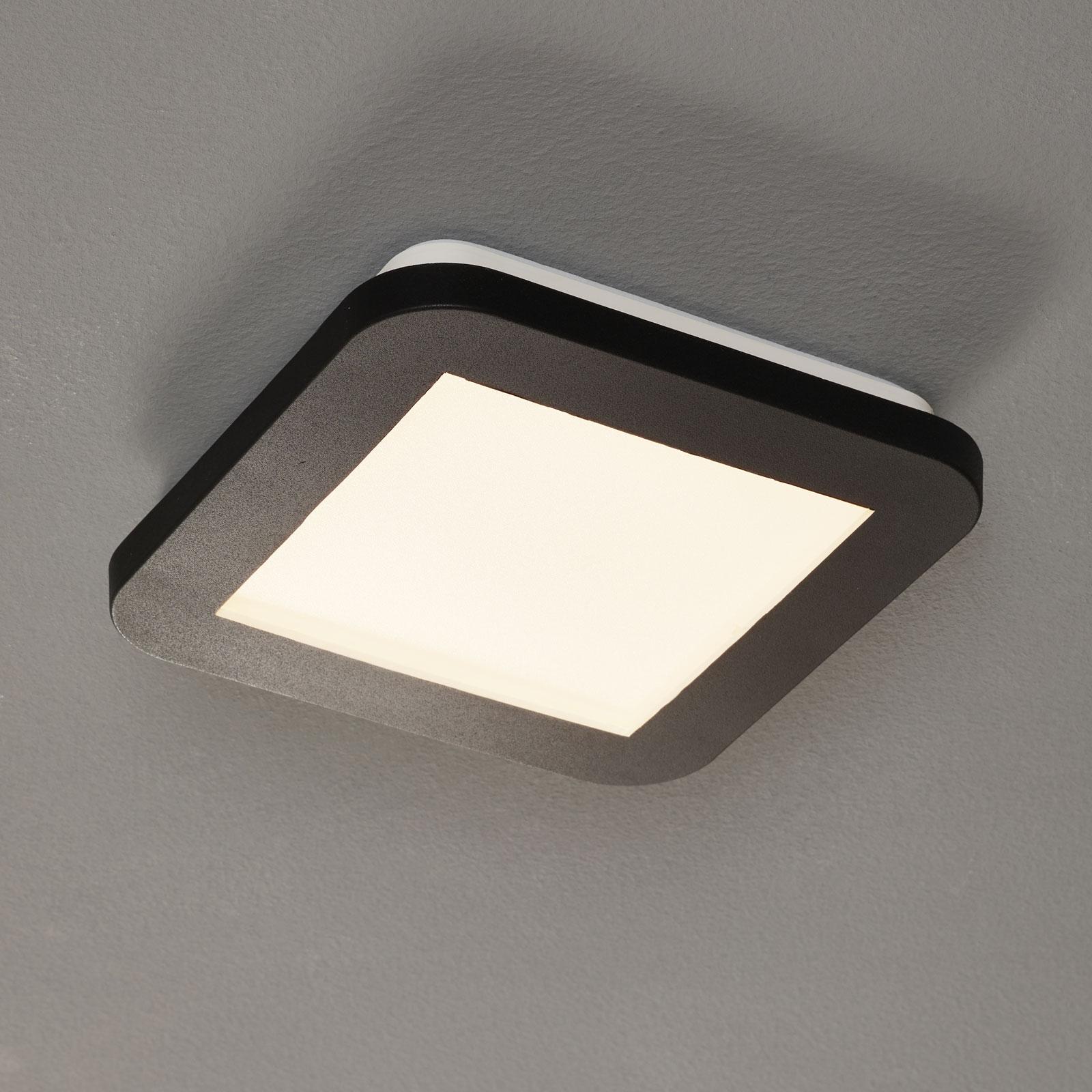 LED-taklampe Camillus, kvadratisk - 17 cm