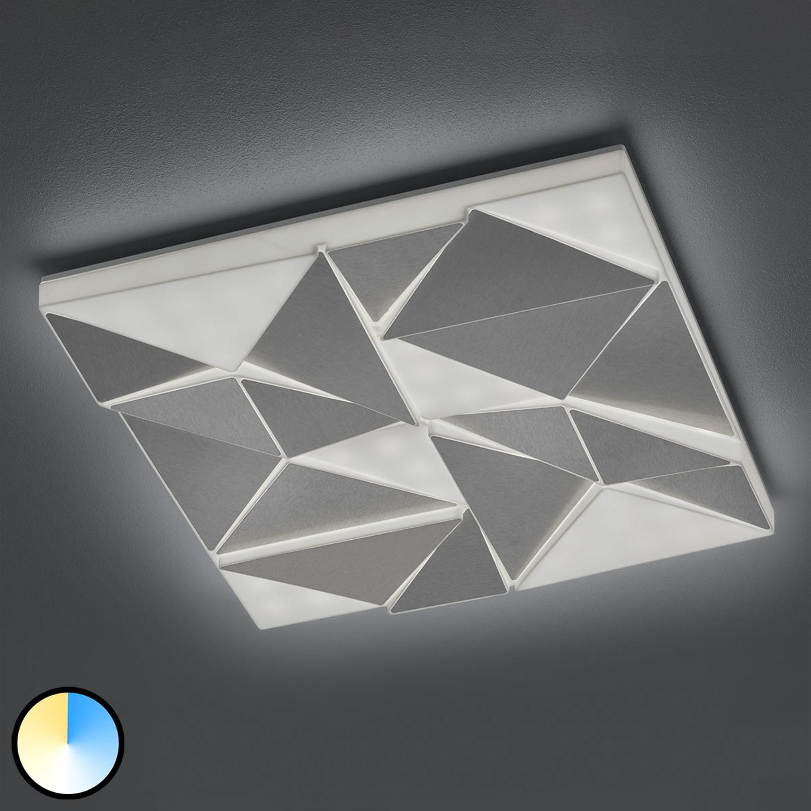 LED-taklampe Trinity med nattlys, 60 x 60 cm