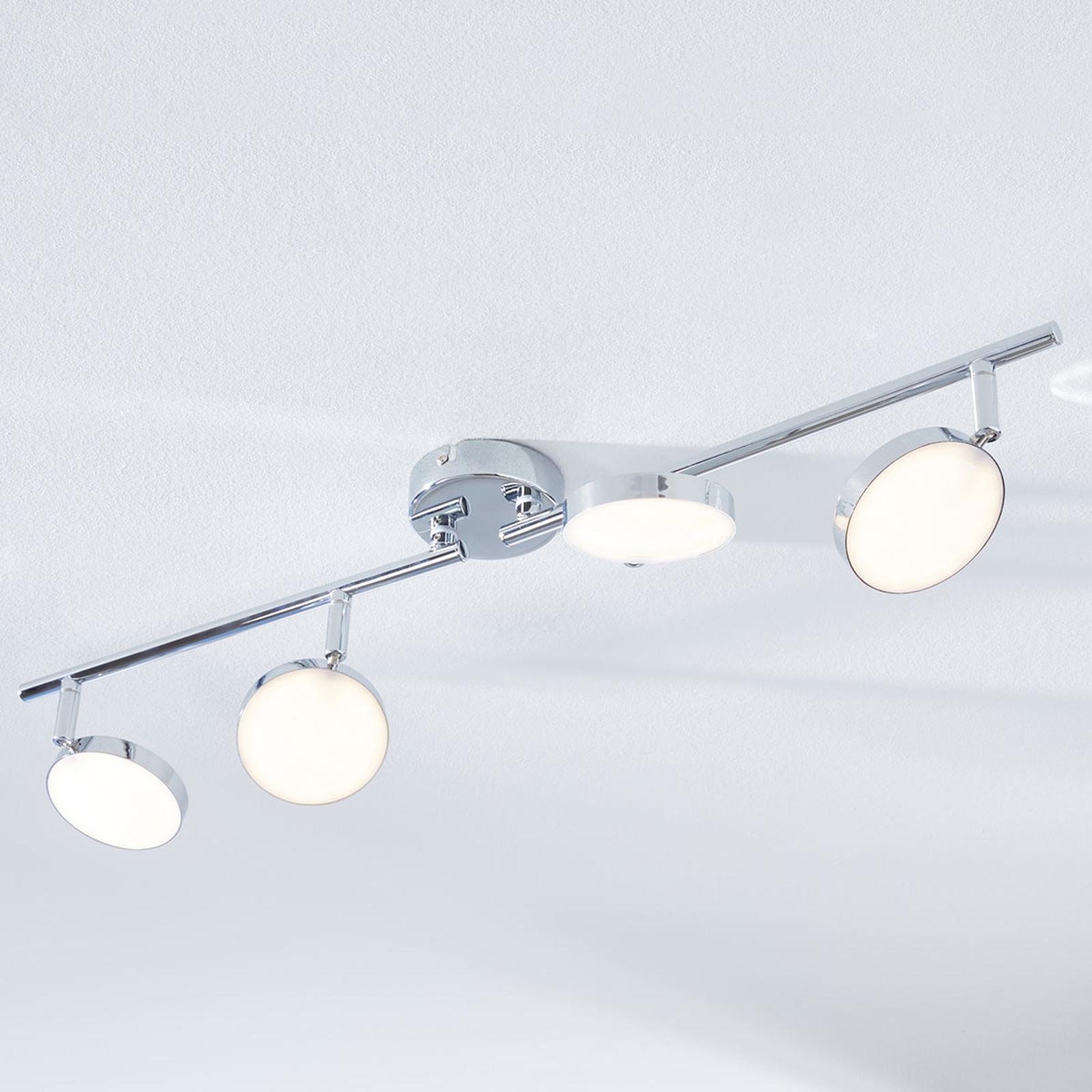 LED-kattokohdevalo Keylan, 4-lamppuinen