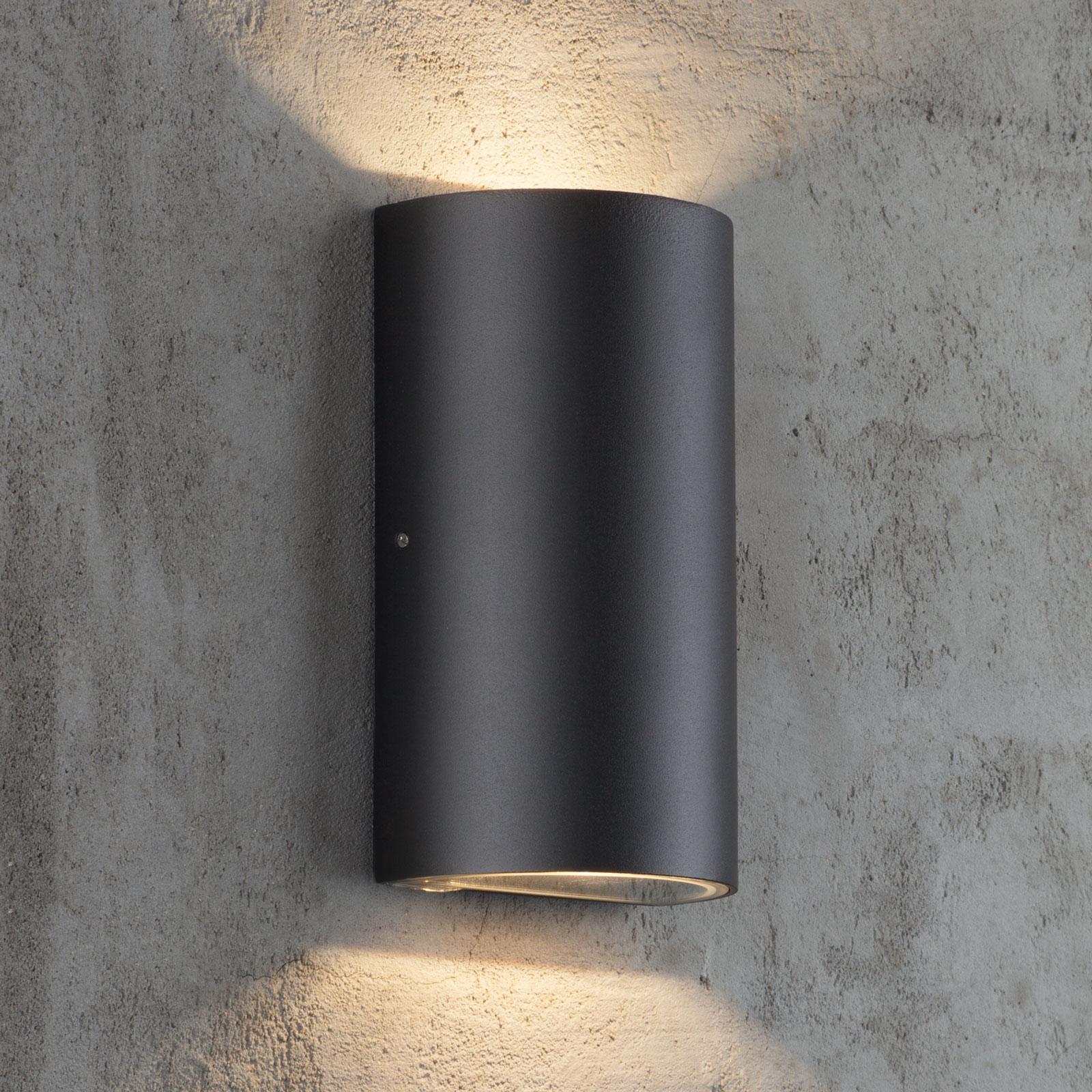 Utendørs LED-vegglampe Rold, rund form