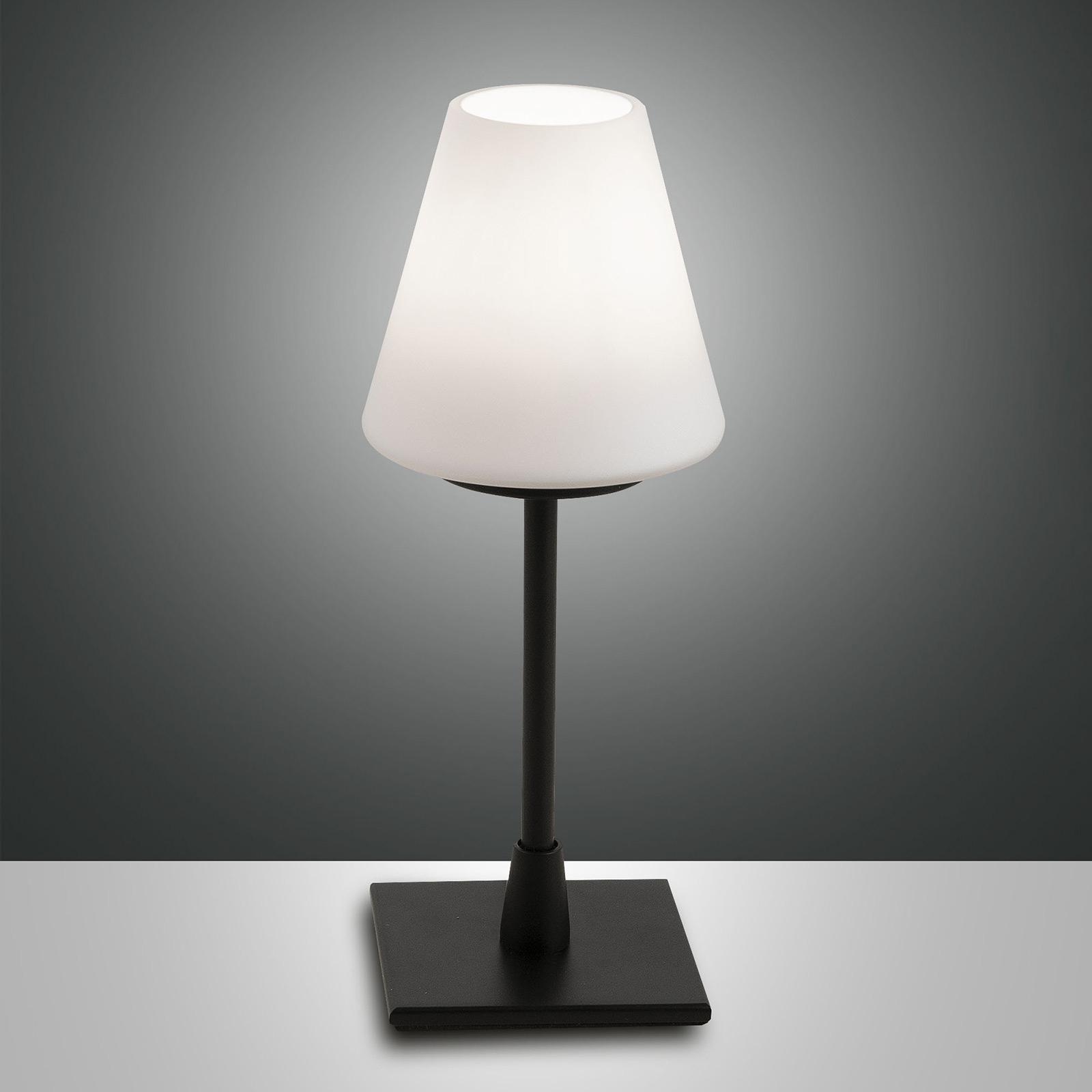 Lampe à poser LED Lucy variateur tactile, noire